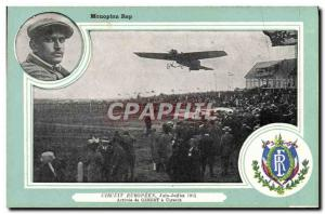 Old Postcard Jet Aviation monoplane Rep Circuit Europeen June July 1911 Arriv...