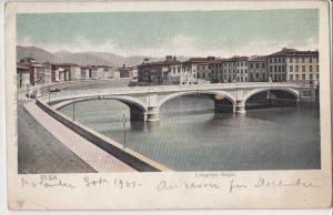 Italy, Italia, PISA, Lungarno Regio, Bridge, 1901 used Postcard