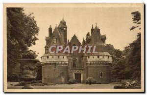 Le Treport - Le Chateau Rambures seen from the road - Old Postcard