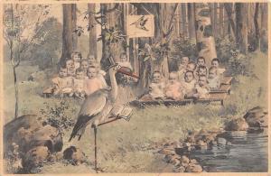 Fantasy Stork School Forest Nature multiBabies  Bebe 1903