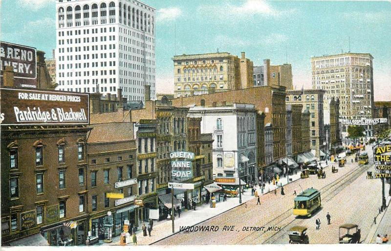 Woodward Avenue Detroit Michigan tramway