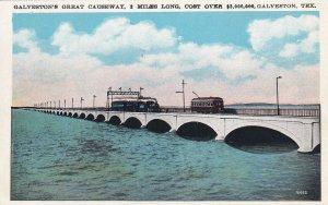 GALVESTON, Texas, 1910-1930s; Galveston's Great Causeway
