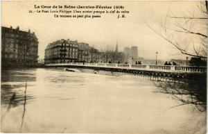 CPA PARIS Crue de la Seine 1910 Pont Louis Philippe (579245)