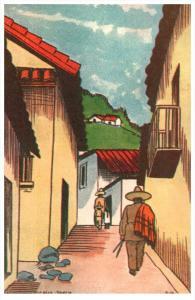 G.Calle, Taxco  Artist Drawn F.Harzbecher
