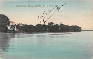 4 ¼ Miles From Spicer MN Handcolored: Interlachen Point View of Green Lake c1910