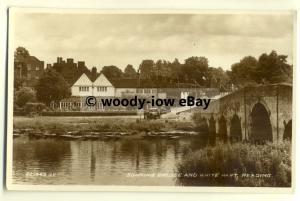 tp8092 - Berks - The Sonning Bridge & White Hart c1934, in Reading - Postcard