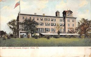 C40/ Newport News Virginia Va Postcard c1910 Hotel Warwick Building