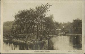 REAL PHOTO Postcard Peoples Park HALIFAX West Yorkshire WHS & S