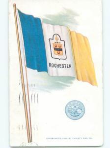 Divided-Back CITY FLAG Rochester New York NY W5213