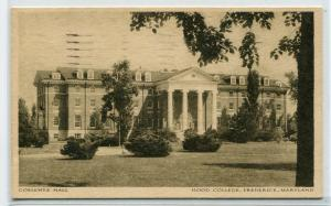 Coblentz Hall Hood College Frederick Maryland 1944 postcard