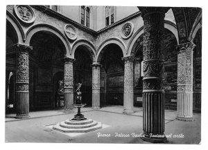 Italy Firenze Palazzo Vecchio Fontana Cortile Fountain Courtyard 4X6 Postcard