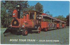 Boise Tour Train, Julia Davis Park, Boise, Idaho, ID, Chrome