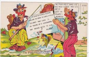 Fishing Humour The Fisherman's Code Curteich
