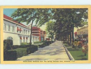 Unused Linen BATHHOUSE ROW Hot Springs National Park Arkansas AR H2207