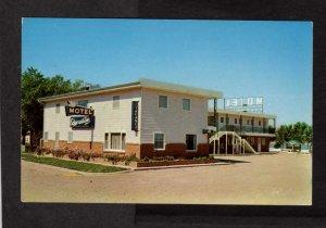 SD The Edgewater Motel Chamberlain South Dakota Postcard M Tyrrell Host