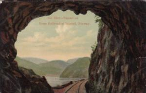 Norway Tunnel On Vosse Railroad At Bolstad