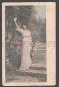 106952 Lady in Garden by KENDRICH Vintage VIENNE MUNK #275