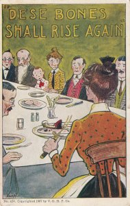 AS: Dese bones Shall RIse Again Family sitting at dinner table, VON H, PU-1910