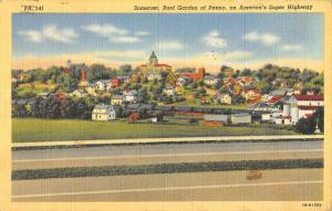 Somerset Pennsylvania Birdseye View Of City Antique Postcard K57864