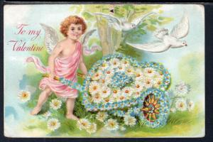 To My Valentine Flowers Birds Cupid BIN