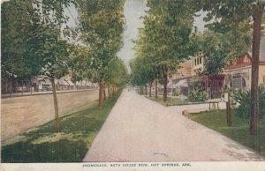 HOT SPRINGS , Arkansas ,1908 ; Promenade , Bath Row
