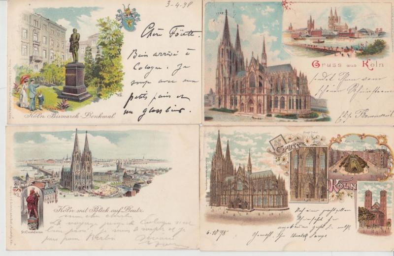 COLOGNE KÖLN ALLEMAGNE GERMANY  31 LITHO Cartes Postales 1900-1905 with BETTER.