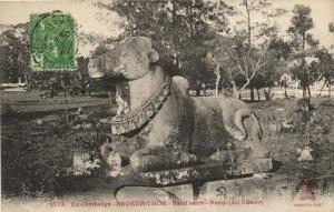 CPA Vietnam Indochine EX-CAMBODGE Angkor-Thom - Bœuf sacré (61593)