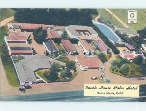 Unused Linen MOTEL SCENE Santa Maria California CA B6669