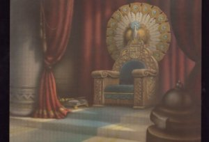 Snow White Evil Queen Throne Disney Film Movie Painting Postcard