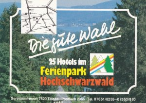 Germany Ferienpark Hochschwarzwald Hotels Vintage Luggage Label sk3140
