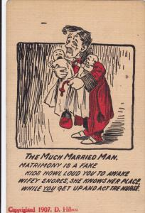 Father carrying his crying twin babies, Much Married Man Poem, 30-40s