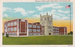 Indiana Terre Haute Woodrow Wilson Junior High School Curteich