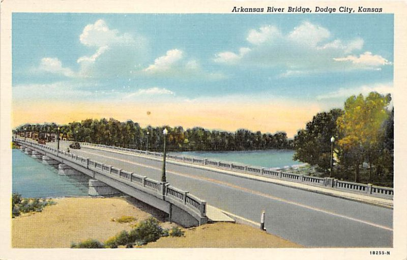 Arkansas River bridge Dodge City Kansas