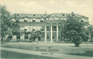 Berea, Kentucky KY Boone Tavern Vintage Curteich B&W Photo Postcard