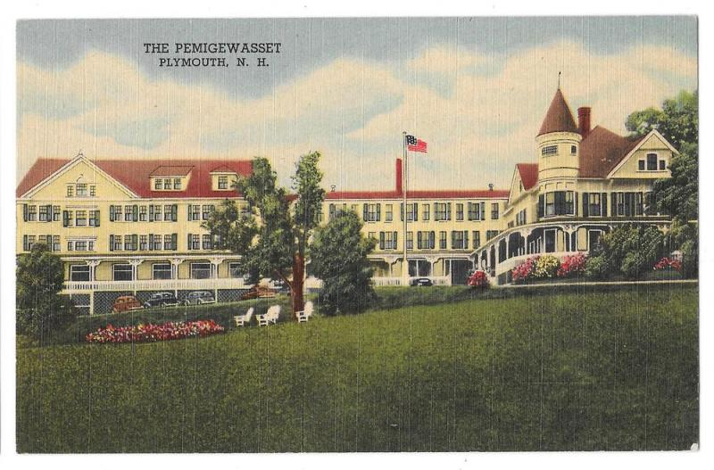 Plymouth Nh Pemigewet House Vintage Hotel Postcard Linen
