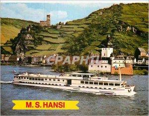 Postcard Modern Cruise M. S Hansi Boat