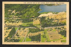 Birds Eye View Fort Jackson Columbia South Carolina Unused c1930s