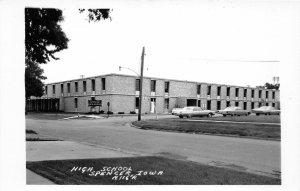 G33/ Spencer Iowa RPPC Postcard c1950s High School Building