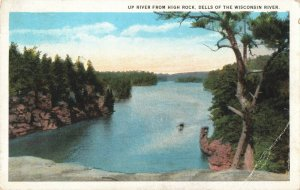 Postcard Up River From High Rock Dells of the Wisconsin River