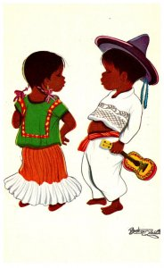 Mexico  signed , 2 children