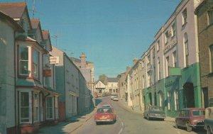 Narberth Market Street Welsh 1970s Postcard
