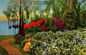 Florida Cypress Gardens Gardenias In Bloom 1962 Curteich