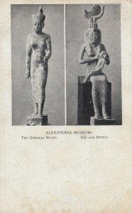 Alexandria Museum , Egypt , 00-10s ; Godess Neith. , Isis & Horus