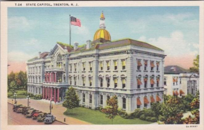 State Capitol Building Trenton New Jersey Curteich