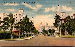 Florida Miami Beach Collins Avenue Hotels 1946