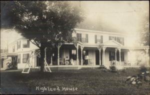 Durham NH Cancel - Highland House c1910 Real Photo Postcard