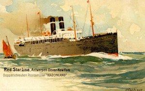 Red Star Line - SS Kroonland     Artist: Cassiers