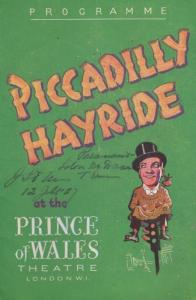Picadilly Hayride Comedy Prince Of Wales London Theatre Programme & Newspaper
