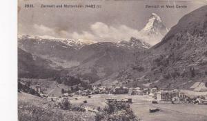 Panorama, Zermatt Und Matterhorn (4482m), Zermatt Et Mont Cervin, Valais, Swi...