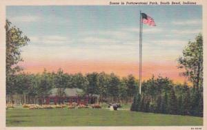 Indiana South Park Scene In Pottawatomi Park Curteich